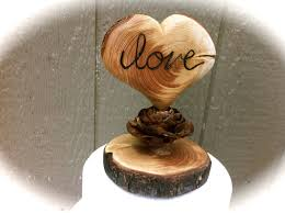 Wooden Wedding Cake Toppers Nz Topper Heart By Momoradrose