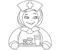 Wonderful Nurse Coloring Pages Gallery
