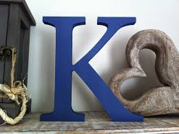 Freestanding Wooden Wedding Letter K 20cm Georgia Style Font