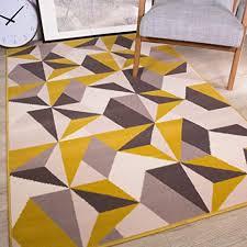the rug house ocker senf gelb grau beige geometrische kaleidoskop traditionelle wohnzimmer teppich