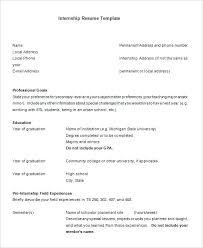 Resume Internship Sample Engineering For