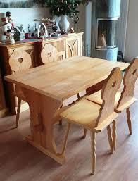 tisch mit 4 stühlen landhausstil rustikal gebraucht