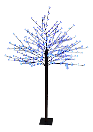 Christmas Tree 7ft by Domed Cherry Blossom Christmas Tree 7ft 8ft Pre Lit Blue Flower