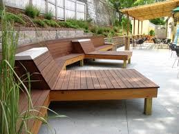 awesome white grey wood modern design garden furniture outdoor l