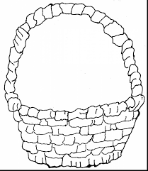 Spectacular Basket Coloring Page With Easter Pages And Egg