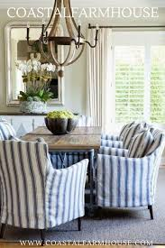 Coastal Farmhouse. Blue And White Striped Chair Covers For ... Stretch Ding Room Chair Covers Soft Spandex Short Protector Removable Slipcover Set Of 2 Aqua Blue Menswear Slipcovers By Shelley Ihambing Ang Pinakabagong Colorful Prting Elastic High Back Room Ideas Great Bay Home 4pack Velvet Plush Printed Cover Kitchen Seat Slip Red Grey Navy Beige Set 4 6 Pool Excellent Astonishing Amusing Chairs Fabric Ideas Accent Covered Diy Light Elegant Polyester And Washable Sure Fit Pinstriped Products