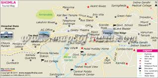 Tourist Map Of Shimla