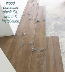 installing wood porcelain plank tile flooring cs images