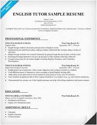 English Resume Tutor Sample Of 8 Curriculum Vitae Example Pdf