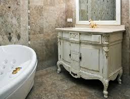 Shabby Chic White Bathroom Vanity by Furniture Shabby White Painted Teak Wood Bathroom Kabinet With