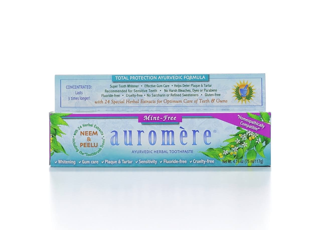 Auromere Mint-Free Herbal Toothpaste - 4.16oz