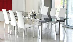 Modern Glass Dining Table With Extension Room Home Design Ideas