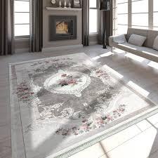 teppich in edler barock optik beige mirai trading gmbh