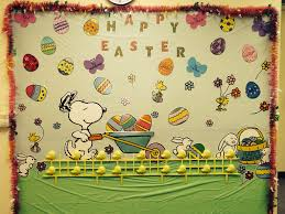Spring Classroom Door Decorations Pinterest by A Snoopy Easter Decor Classroom Wall Decoration Easter Spring