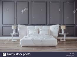 modernes schlafzimmer design interieur white satin bett