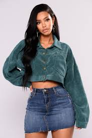 cropped jacket dark green