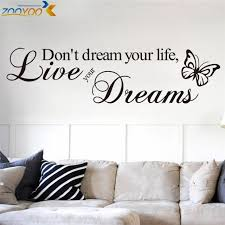Dont Dream Your Life Quotes Wall Decals Zooyoo8142 Living Room Decorative Sticker Diy Vinyl