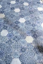 simply fabulous chic hello hexagon blue tiles floor hexagon