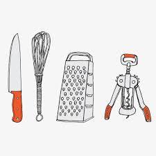 ustensiles de cuisine illustration dessin peint à la image