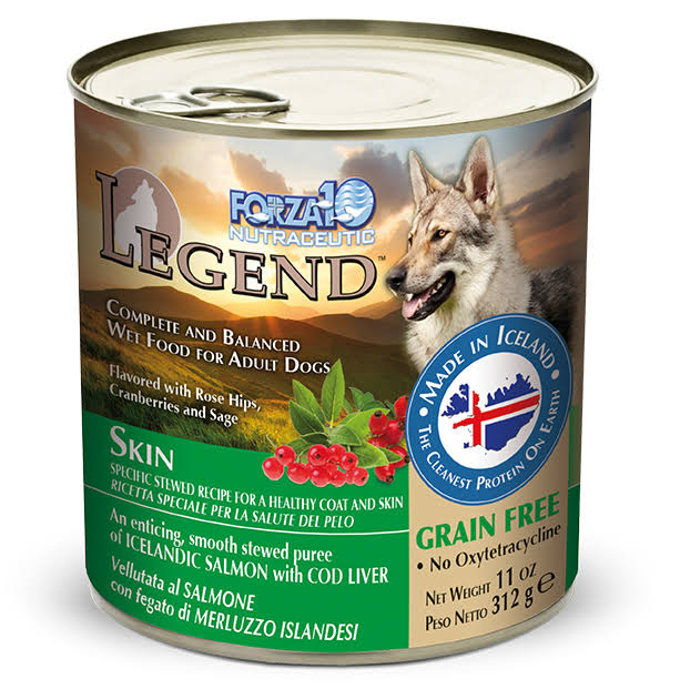 Forza10 Legend Skin Salmon Recipe with Cod Liver Canned Dog Food - 11 oz, Case of 6
