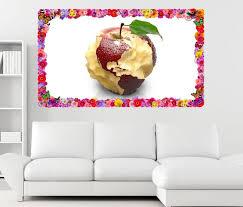 3d wandtattoo apfel amerika usa weltkarte kunst blumen rahmen wandbild wohnzimmer wand aufkleber 11l777