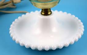 Underwriters Laboratories Portable Lamp Brass by Vintage Underwriters Laboratories Hobnail Milk Glass Portable Lamp