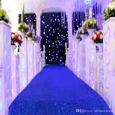 10 M Roll 12m Wide Shiny Royal Blue Pearlescent Wedding Decoration Carpet T Station Aisle Runner