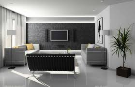 Modern Apartment Living Room Ideas With Black Grey And White Colors