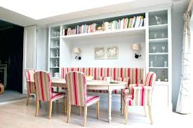 Banquette Dining Seating Upholstered Bench Cool Ideas Room With Red Striped