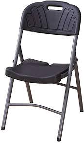 de stühle klappstuhl schwarzer kunststoff gepolstert