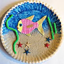Making A Paper Plate Sea Aquarium