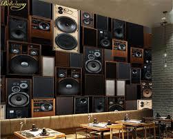 Beibehang Custom Photo Wallpaper For Walls 3 D European Retro KTV Sound Speaker Wall Papel De