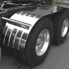 100 Poly Truck Fenders Stainless Steel Mounting Kit For Half Tandem Black