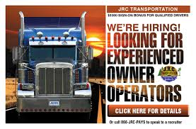 Trucking Owner Operator | J.R.C Transportation Inc. Become An Owner Operator At Shaffer Trucking Youtube How Much Money Ipdent Operators Make 1500 A Day Take Much Does Oversize Trucking Pay Gallery Has Put Merrville Man In The Drivers Seat I Quit My Job Didnt Retire Why Be Ownoperator Ordrive Truck Driver Detention Pay Dat Household Division Drive Atlas Federal Logistics Otr Jobs Resume Sample And Template