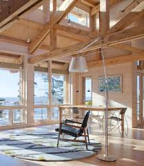 Pine Creek Structures For A Rustic Living Room With Floor Lamp And Dining