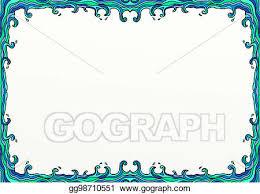 Doodle Wavy Sea Page Border Decoration