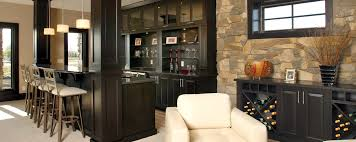 sophisticated bar custom cabinets