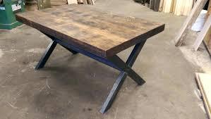 table cuisine bois exotique luxe table cuisine bois plateau de pin industriel mactal en massif