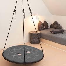 original sinnesschaukel inkl verlängerung netzschaukel indoor in schwarz sansegynge