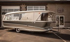 100 Restored Travel Trailers For Sale This JetAge Camping Trailer Is Wilder Than Any Airstream News