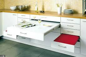 plan de travail escamotable cuisine plan de travail escamotable cuisine tiroir avec plan de travail