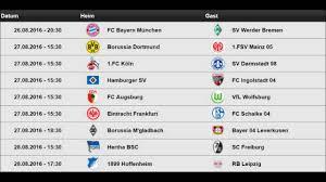 1Spieltag 1 Bundesliga 20162017 262728082016 Alle