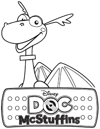 Doc McStuffins Stuffy The Dragon Coloring Page