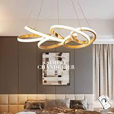 moderne led pendelleuchte esstisch innendeckenleuchte 5 ring hängele wohnzimmer pendelle schlafzimmer höhe verstellbare hängeleuchte dimmbare