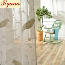 Sheer Cotton Voile Curtains by Bird Pattern 3d Embroidery Drape Sheer Curtain Fabric Tulle Voile