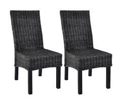 vidaxl esszimmerstühle 2 stk schwarz kubu rattan und mango holz