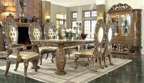 Homey Design Dining Room Set Dark Brown Classic Rules