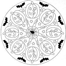 Awesome Collection Of Printable Halloween Mandala Coloring Pages In Cover