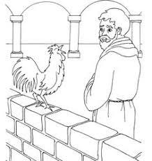 Peter Denies Jesus Coloring Picture