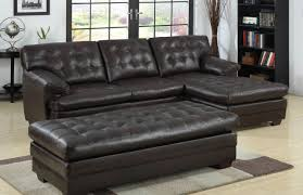 Buchannan Faux Leather Corner Sectional Sofa Chestnut by Dazzle Tags Sofa With Reversible Chaise Colored Leather Sofas